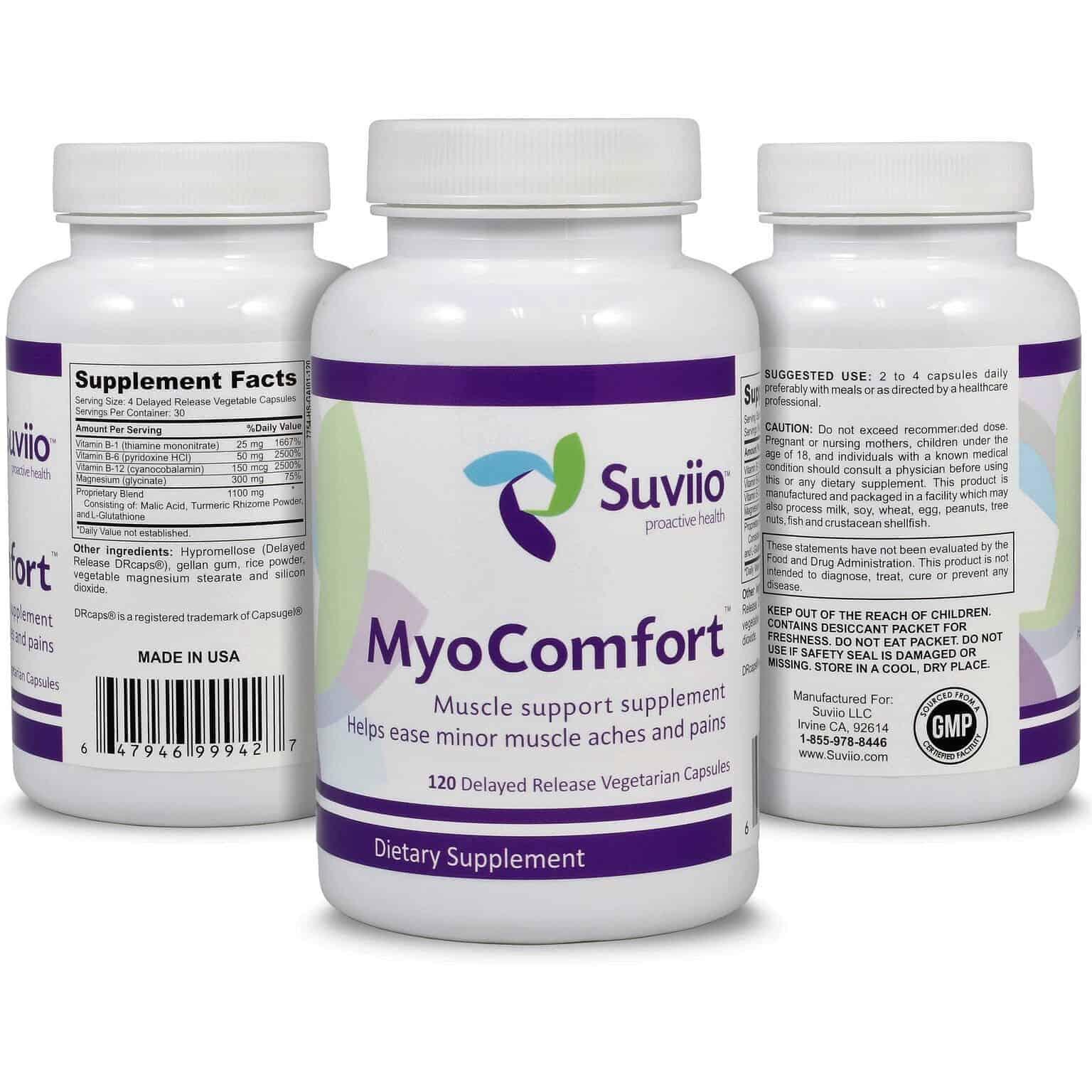 MyoComfort – 120 extended release capsules help mask taste and minimizes risk of reflux, 100%
