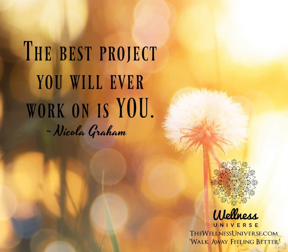 The best project you will ever work on is YOU. ~ @NicolaGraham #WUWorldChanger https://www.facebook.