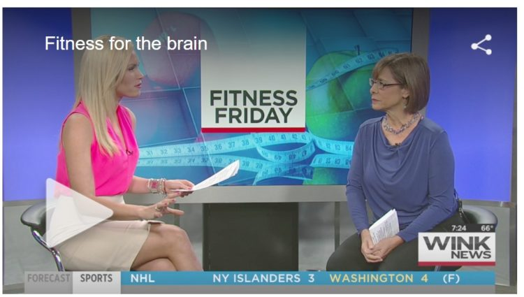 I appear on local CBS WINK-TV every other Friday to talk about health and fitness. Andrea-on-TV-resi