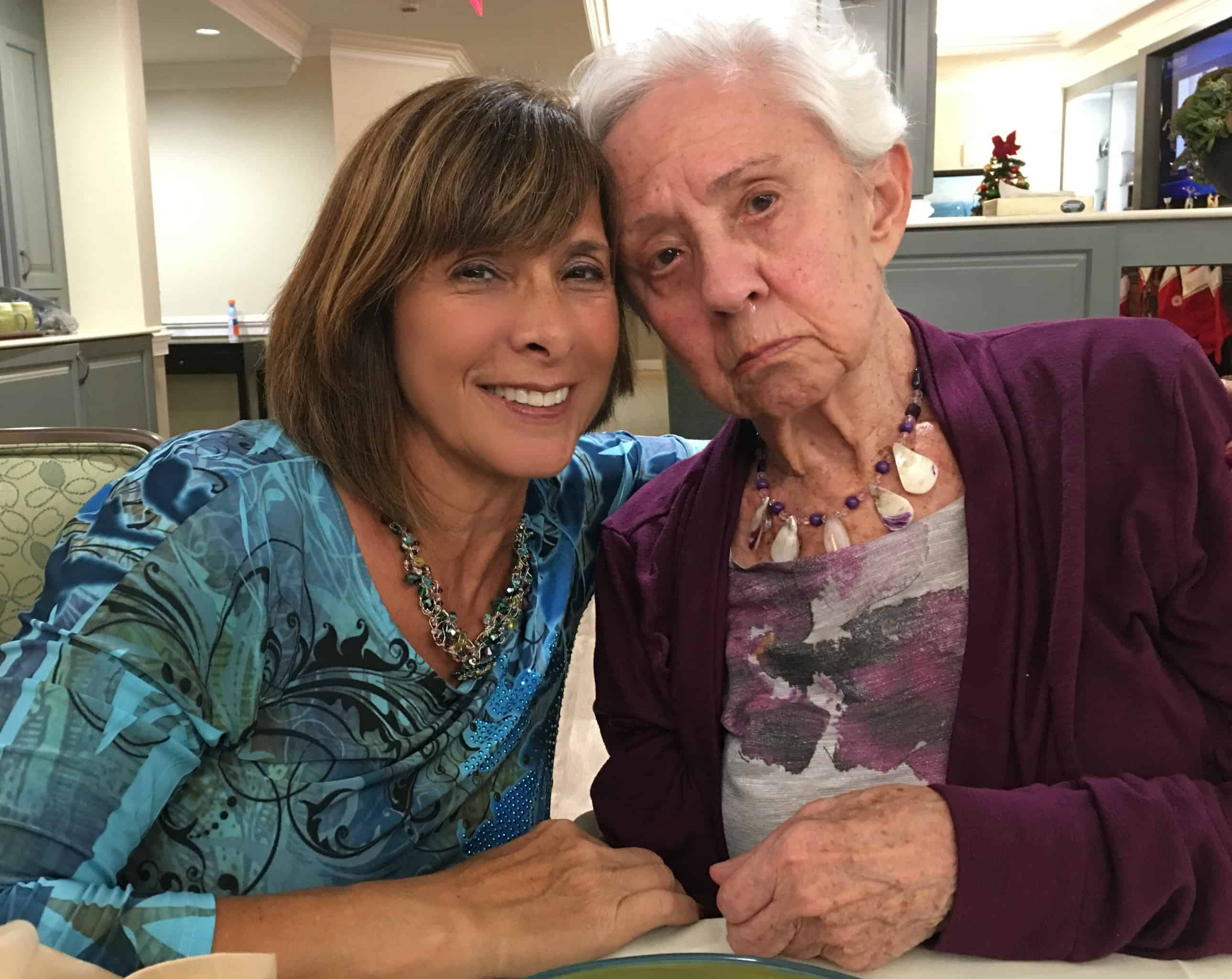 My mom, who has been suffering from Alzheimer's for ten years is my inspiration. Mom-and-I-for