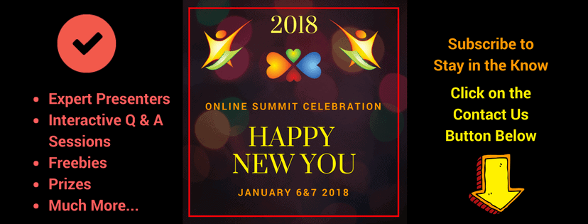 Please joint us for our HAPPY NEW YOU Summit for new ways to get HEALTHY!! http://www.2018happynewyo