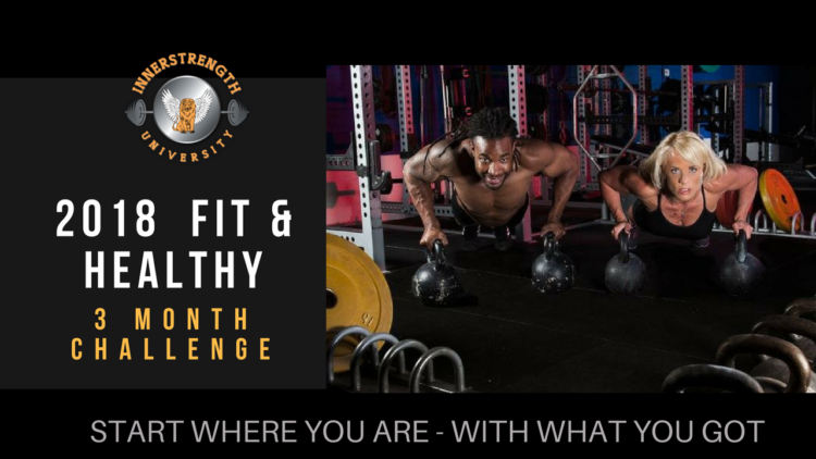 I'm starting a 3-month Fit & Healthy Challenge next Sunday 1/21/18. I'm looking to o