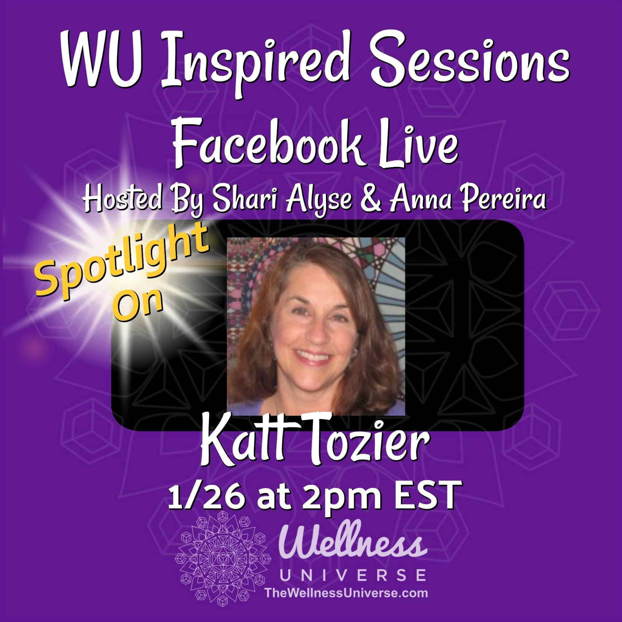 Reminder we are LIVE today, 1/26 at 2pm EST with WU World-Changer @katttozier! Join us and receive h