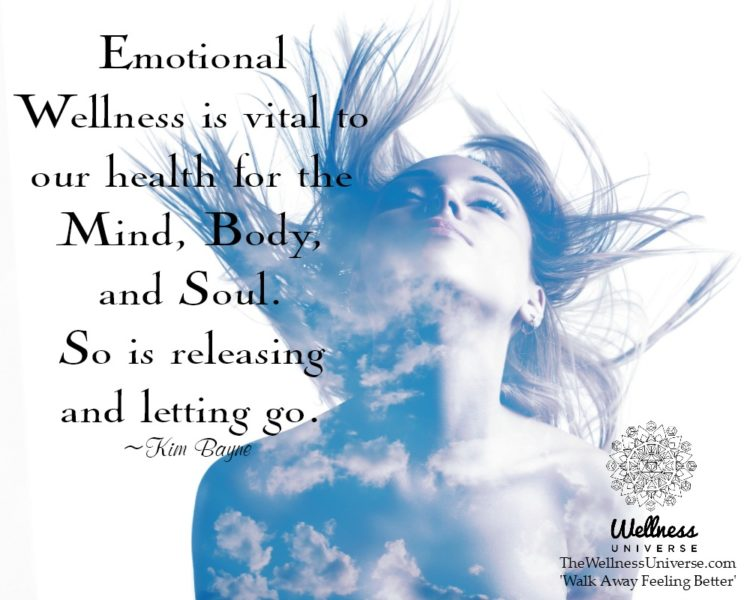 Emotional wellness is vital to our health for the mind, body, and soul. So is releasing and letting