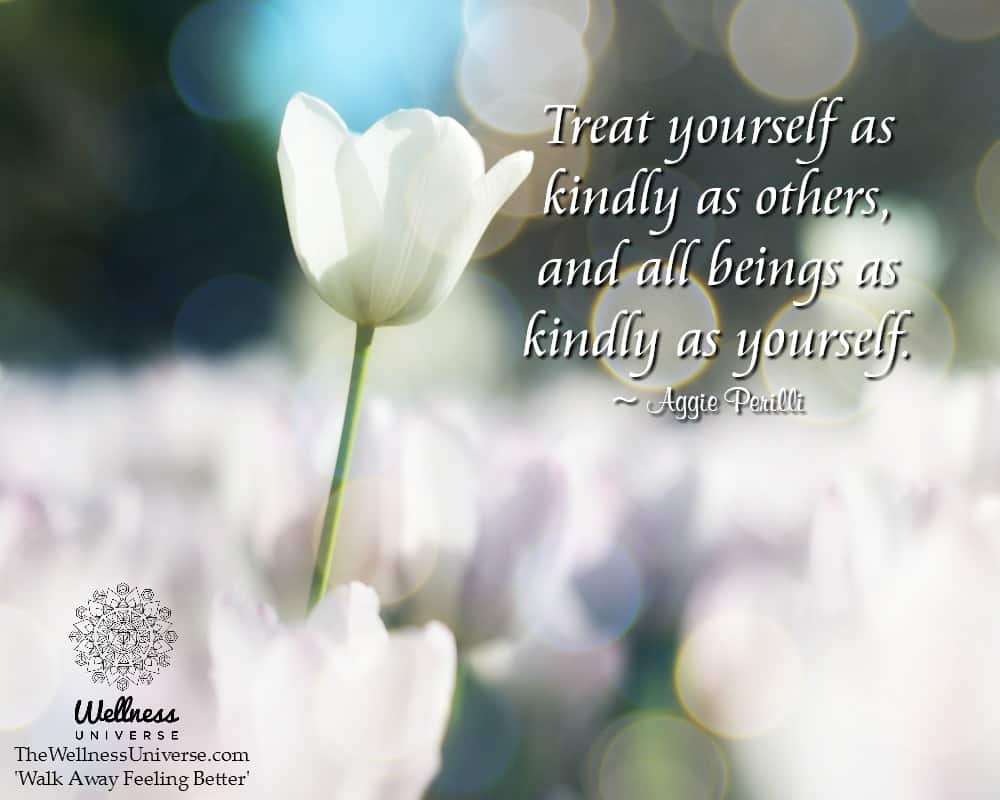 Treat yourself as kindly as others, and all beings as kindly as yourself. ~ @AggiePerilli #WUWorldCh