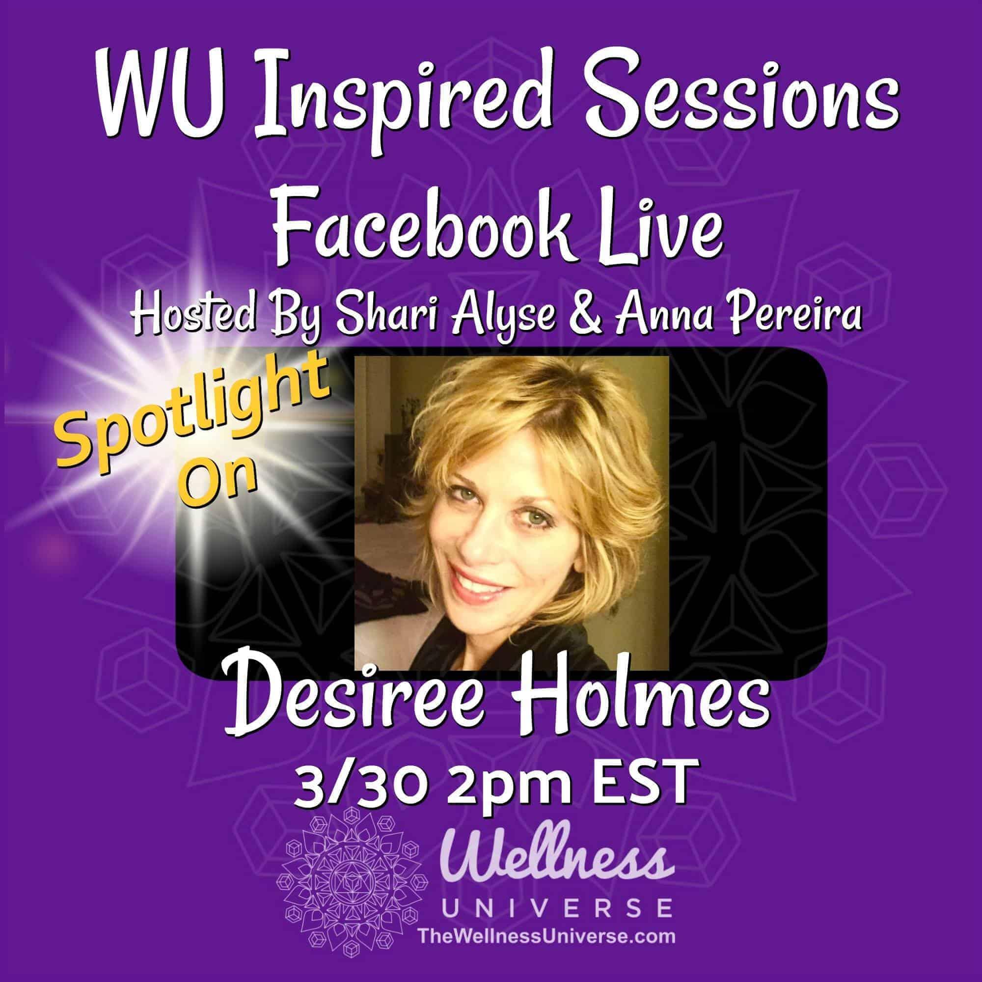 Meet WU World-Changer, Desiree Holmes Scherini, CHT NLP Life Strategist, Hypnotherapist, Author of &