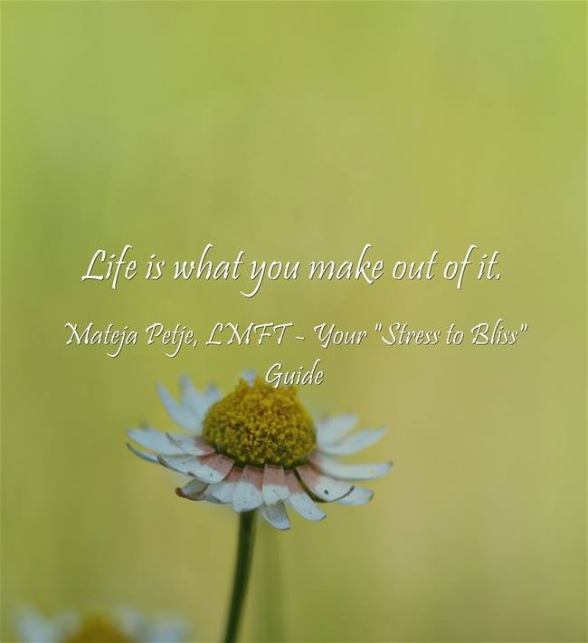Wishing you a great weekend! #naturalstressmanagement #purpose #WUVIP life-purpose-mateja-petje-lmft