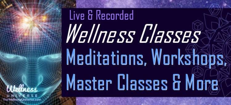 Meditations, workshops, classes & more for your well-being. Many class are free! https://wellnes