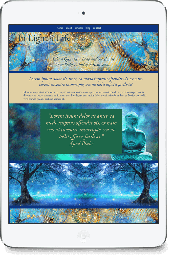 Interactive, mobile ready website designs created for spiritual business women and conscious entrepr