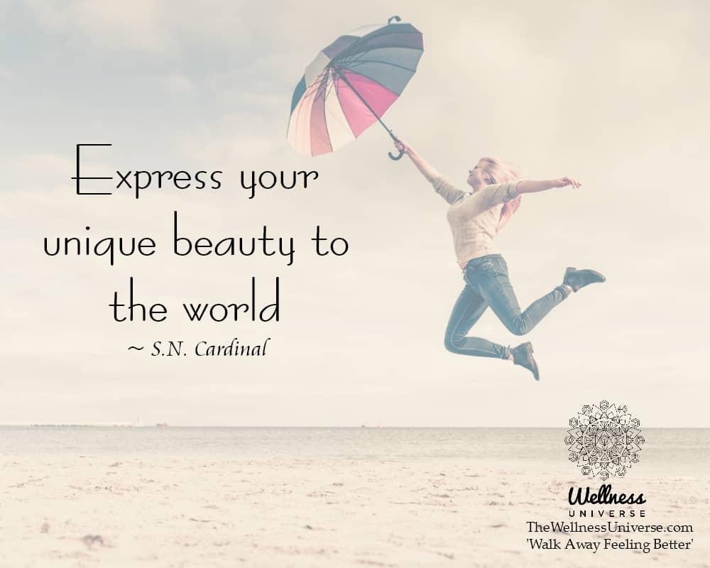 Express your unique beauty to the world. ~ @nancyCardinal #WUWorldChanger https://www.facebook.com/W