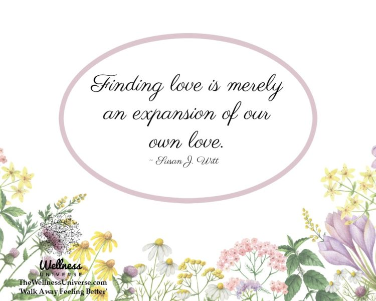 Finding love is merely an expansion of our own love. ~ @SusanJWitt #WUWorldChanger https://www.faceb