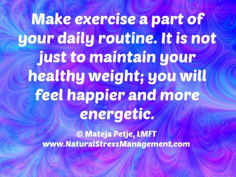 Happy Monday! Make exercise as a part of your daily routine. It's not just to maintain your he