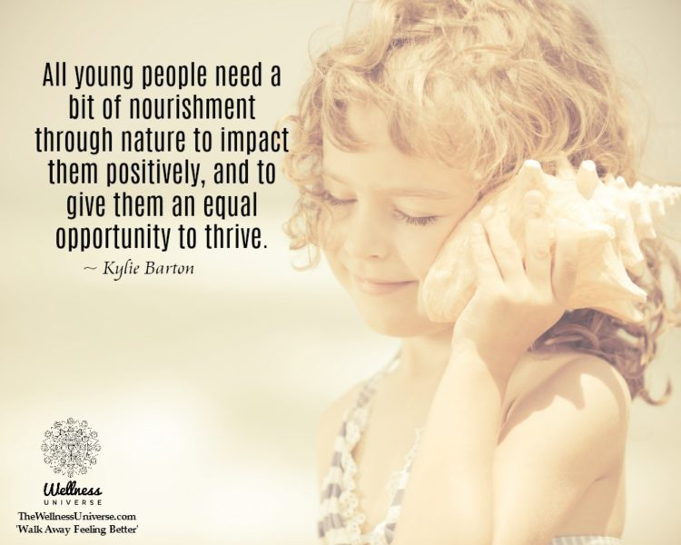 All young people need a bit of nourishment through nature to impact them positively, and to give the
