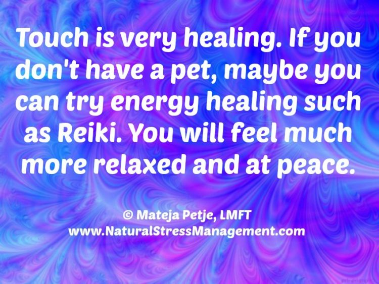 Happy Monday! #Touch is very healing. If you don't have a partner or a pet, try energy healing