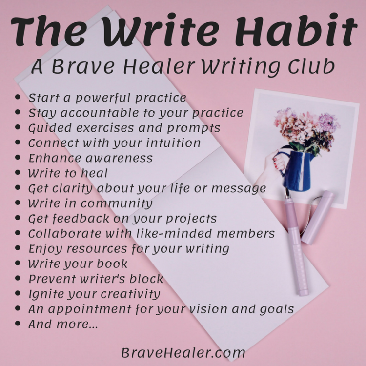 An epic new online writing club, the Brave Healer way! Please help me spread the word! Find all the
