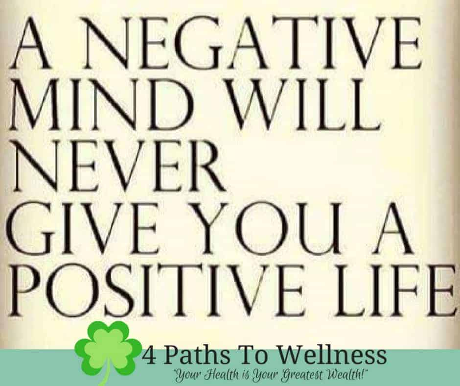 Erase the negativity and steer clear of the negative people even if they have to be in your life. Em
