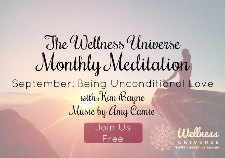 Meditate with me! September is about 'Being Unconditional Love' our guided meditation is