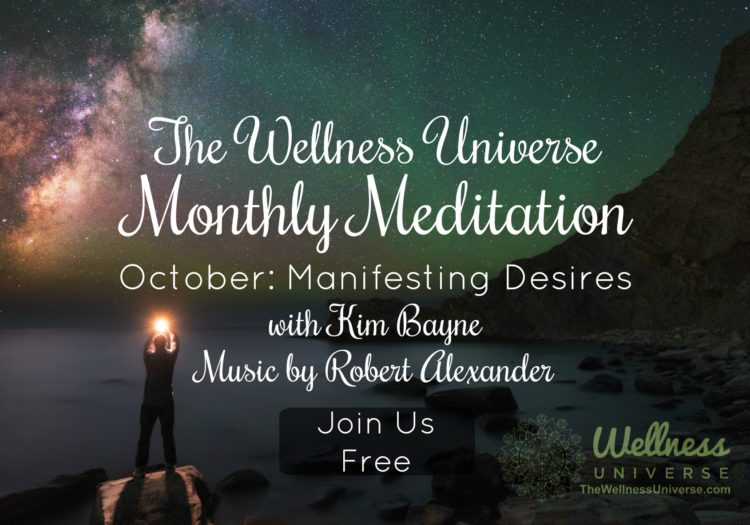 Join us in 15 minutes for our LIVE October Meditation – Manifesting your Desires! https://well