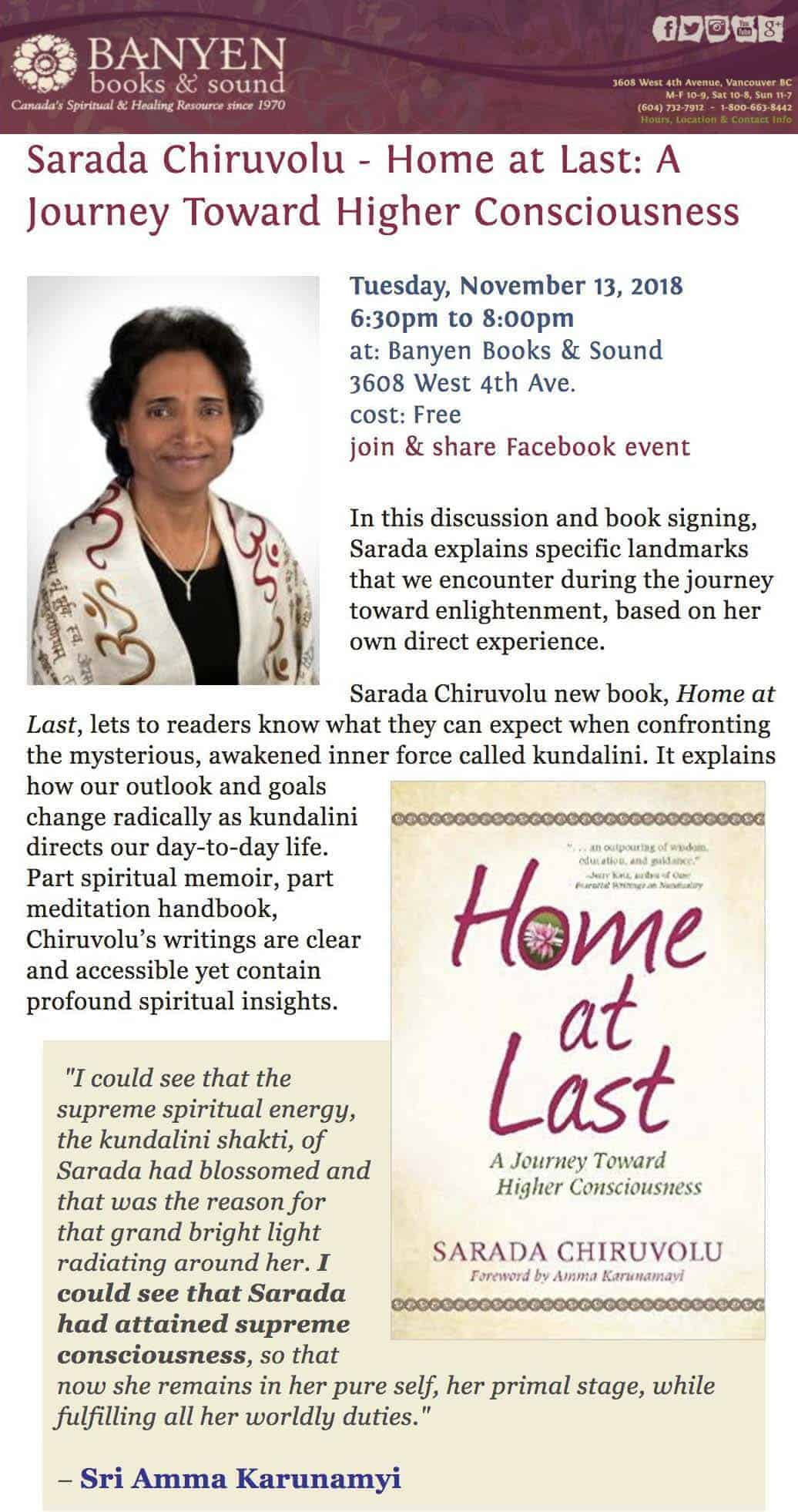Dont forget to come join me tonight at 6:30pm at Banyen Books & Sound and tomorrow at 7:30pm at