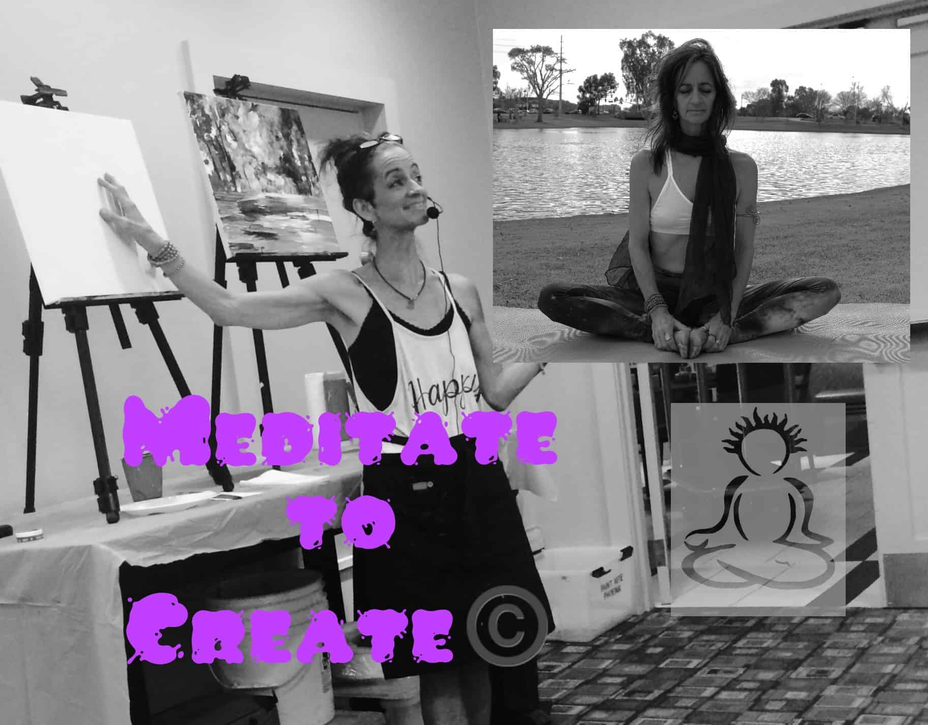 """My signature class: """"Meditate to Create."""" Meditation for 15 minutes and consciously move"""