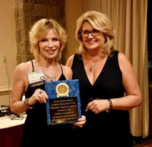 """I was so very proud to receive the award for """"Outstanding Transpersonal Contribution """" this year"""