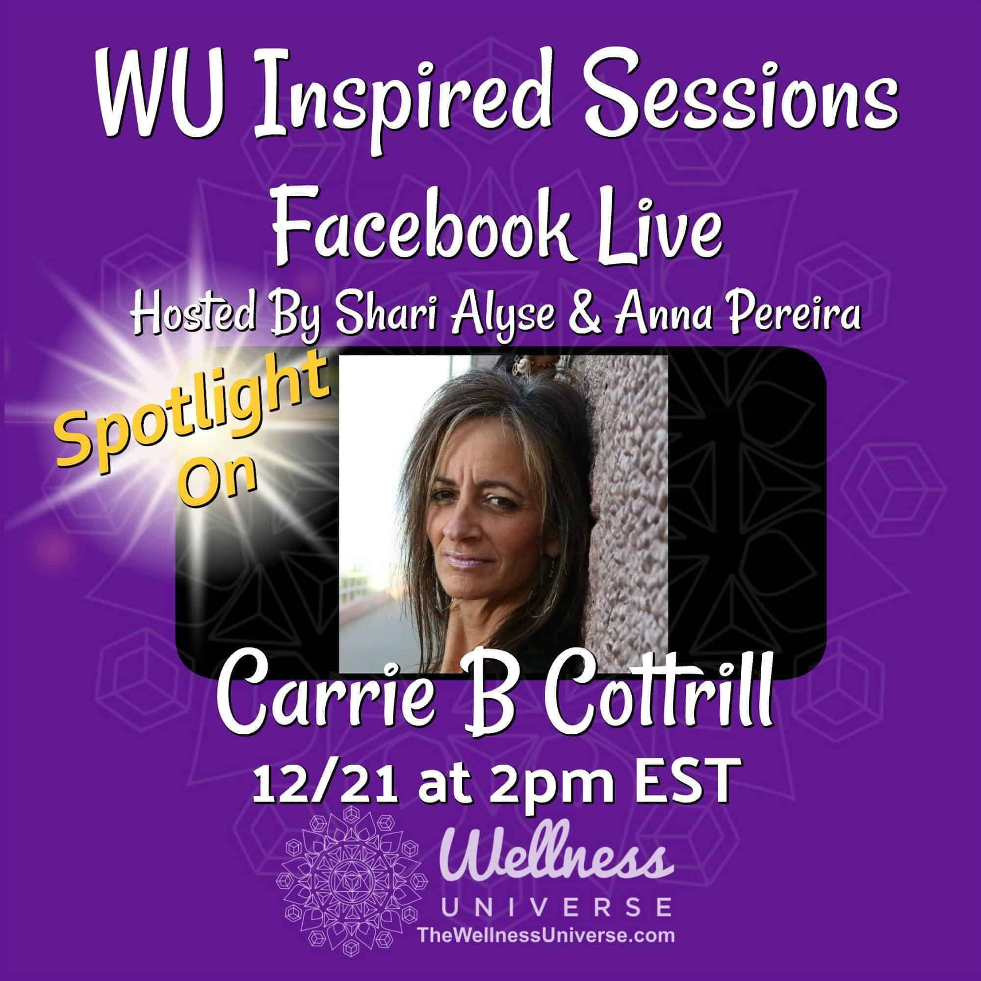 Want to increase the creativity in your life? Come meet WU World-Changer, Carrie B Cottrill, on this