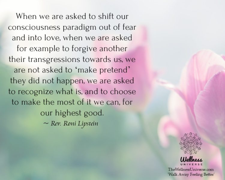 When we are asked to shift our consciousness paradigm out of fear and into love, when we are asked f