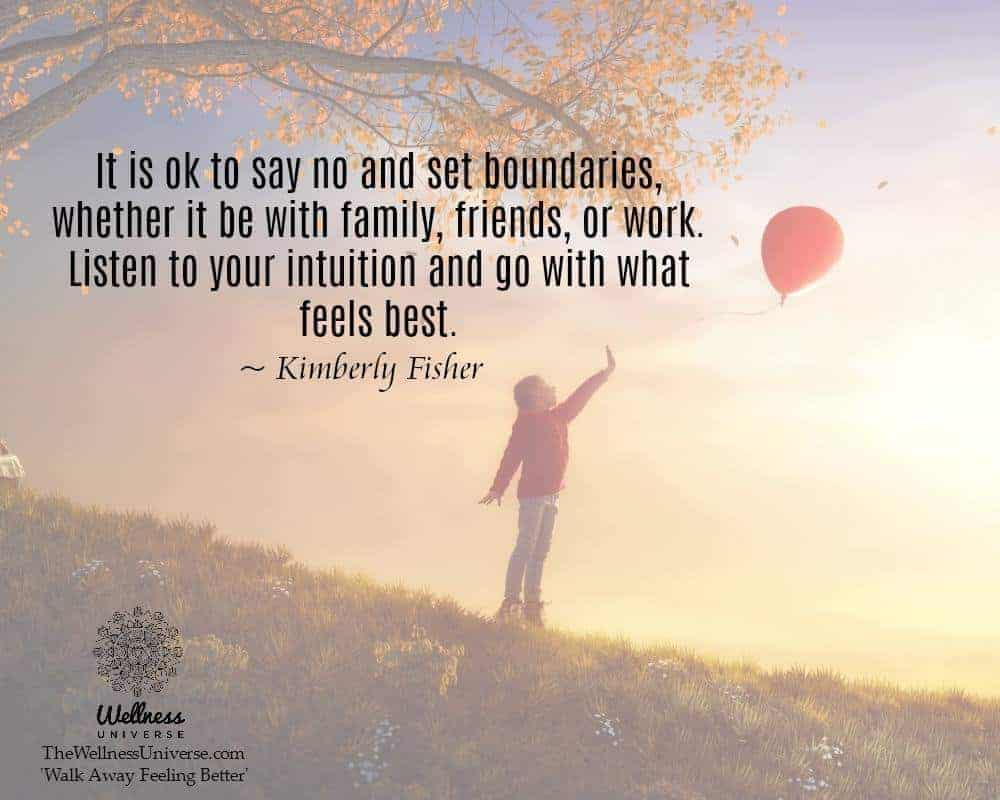 """""""It is ok to say no and set boundaries, whether it be with family, friends, or work. Listen to"""