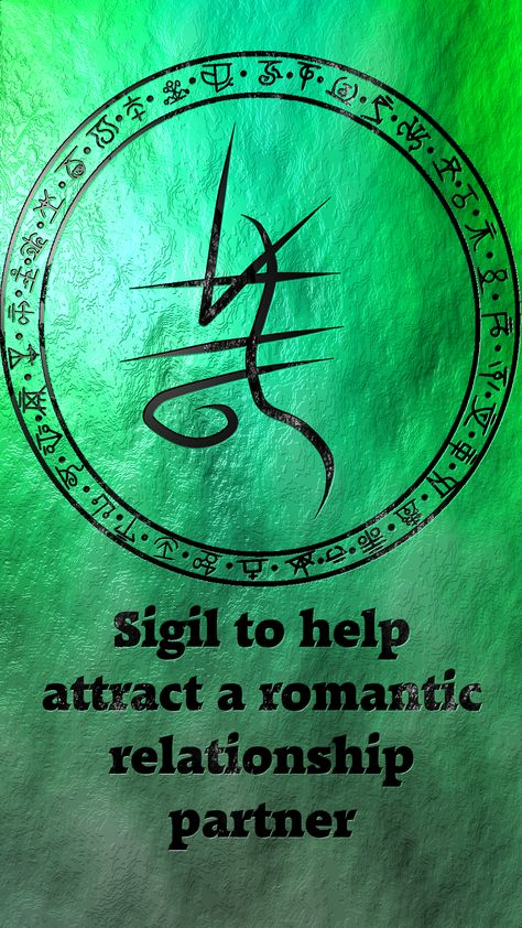 For those ready and open to welcome their #romantic #partner into their lives, this #sigil is a #gif