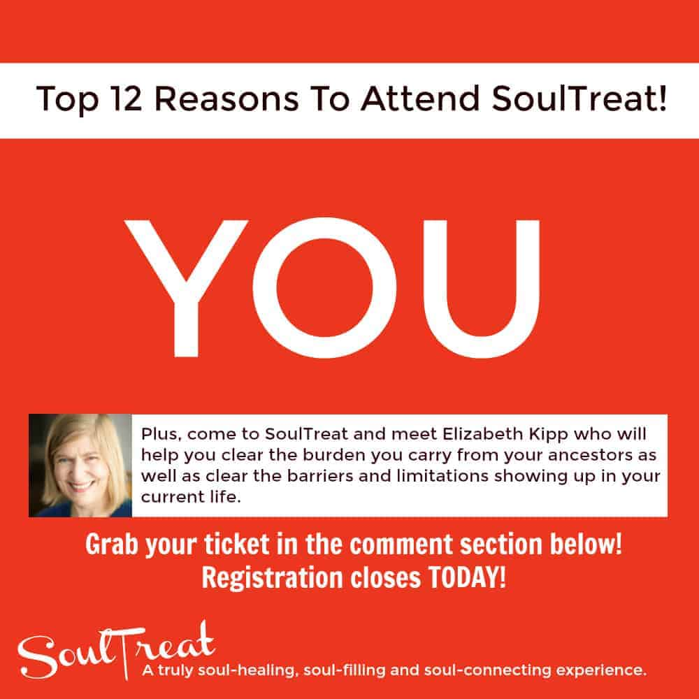 TODAY is the LAST DAY to grab your SoulTreat ticket! Throughout the day, we will be sharing with you