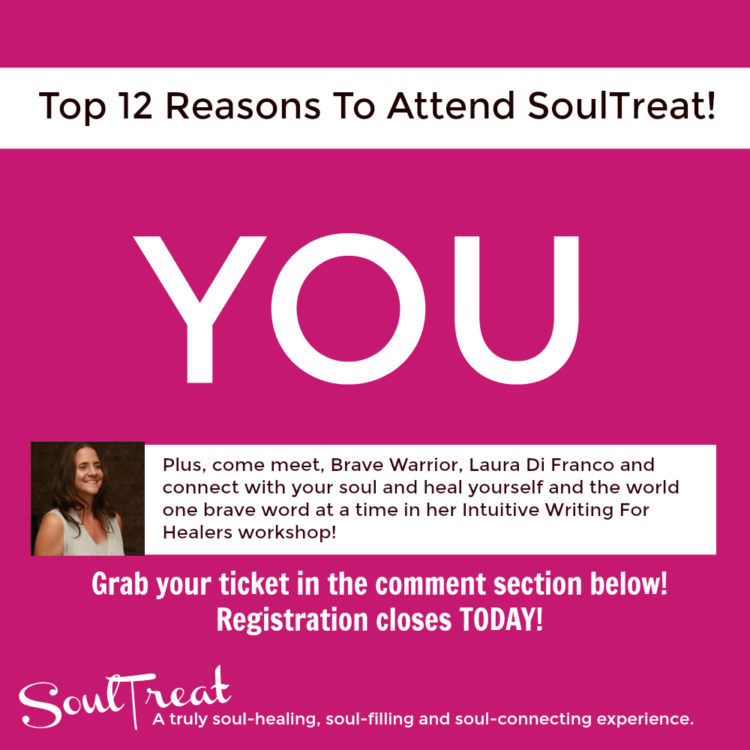 TODAY is the LAST DAY to grab your SoulTreat ticket and we wanted to share The Top 12 Reasons to Att