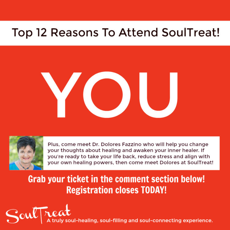 TODAY is the LAST DAY to grab your SoulTreat ticket and I wanted to share The Top 12 Reasons to Atte