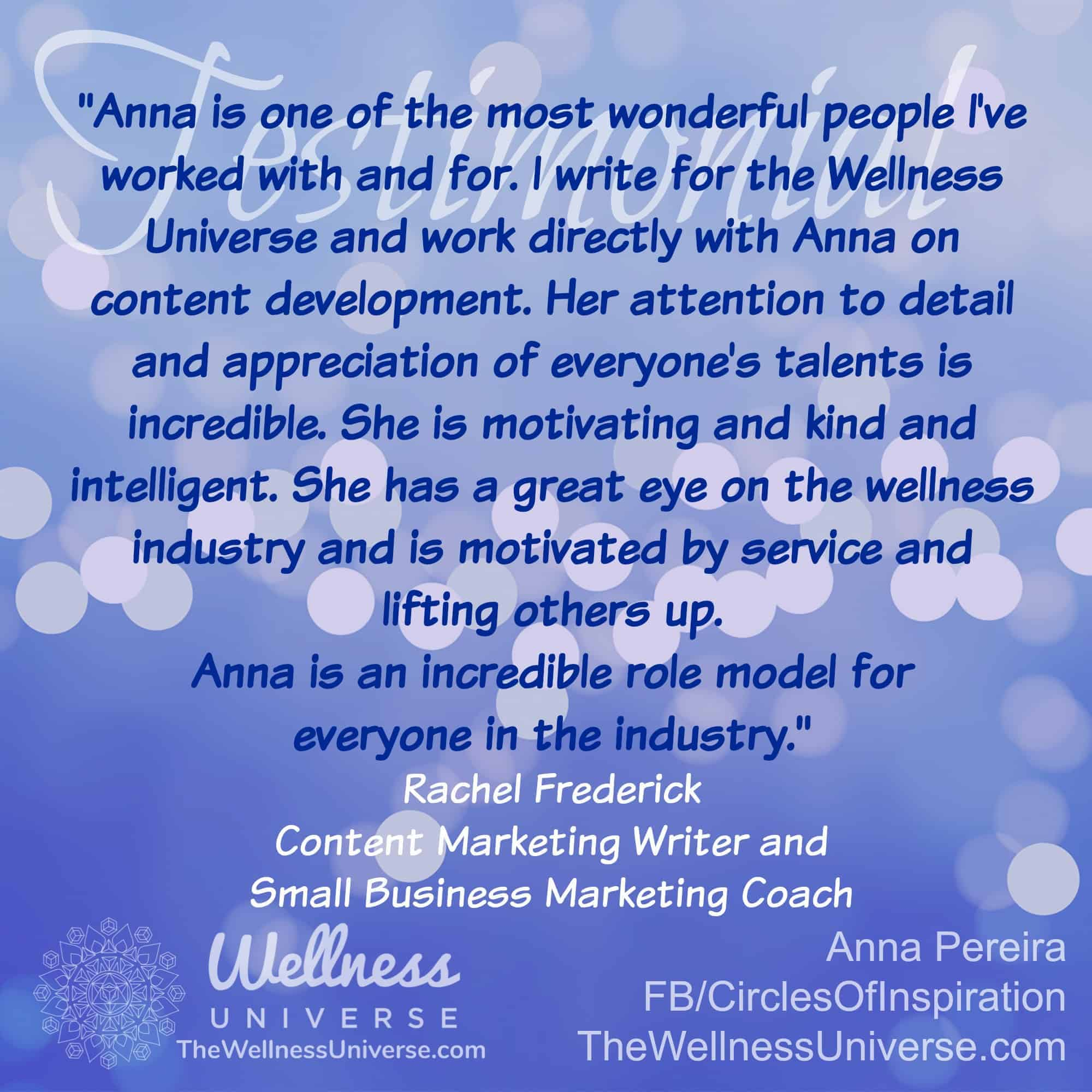 <3 Blessed & Grateful to have these amazing reviews from WU World-Changers @rachelfrederick @