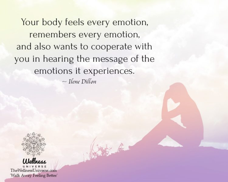 Your body feels every emotion, remembers every emotion, and also wants to cooperate with you in hear