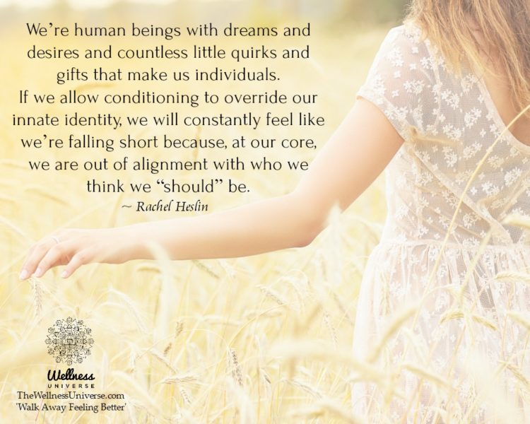 We're human beings with dreams and desires and countless little quirks and gifts that make us indi