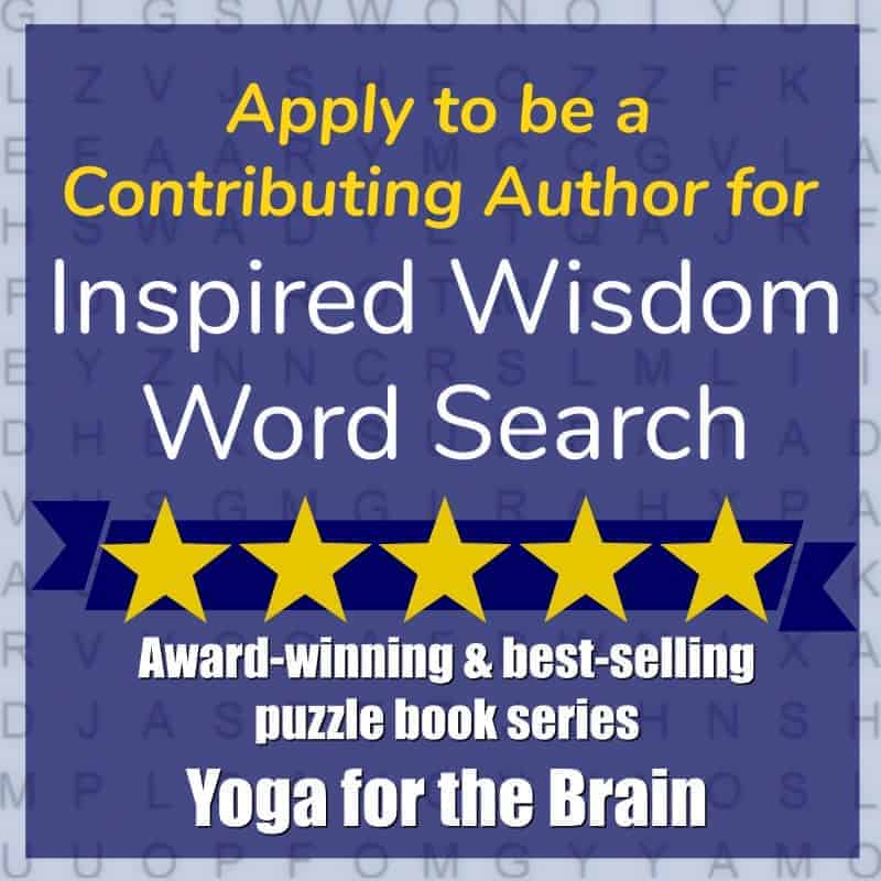 Exciting Announcement! I will have an inspiring message included in 'Inspired Wisdom Word Sear