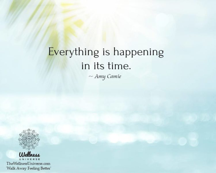 """""""Everything is happening in its time."""" – @amycamie #WUWorldChanger Learn more abou"""
