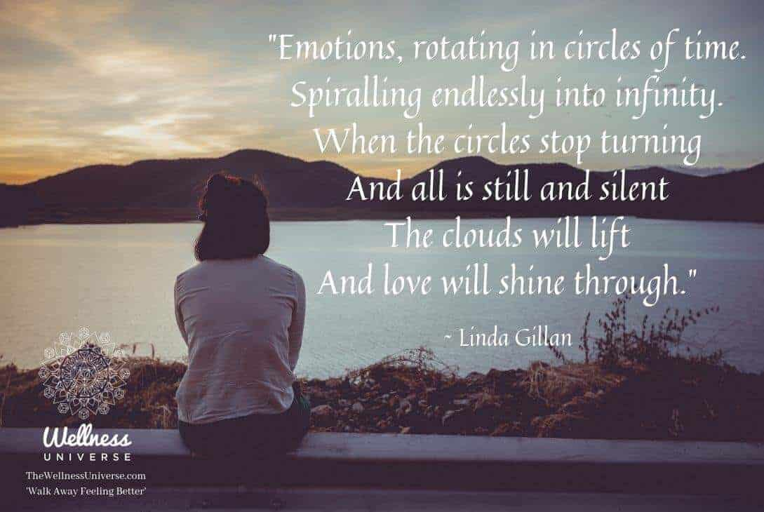 """""""Emotions, rotating in circles of time. Spiraling endlessly into infinity. When the circles st"""