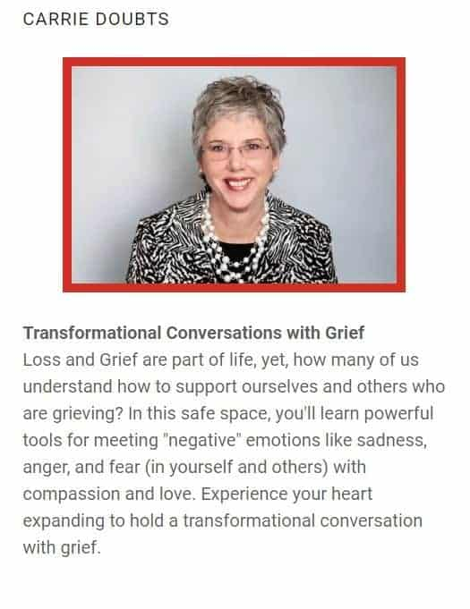 Today's featured SoulTreat presenter is Carrie Doubts! Carrie will be leading a talk on: Trans