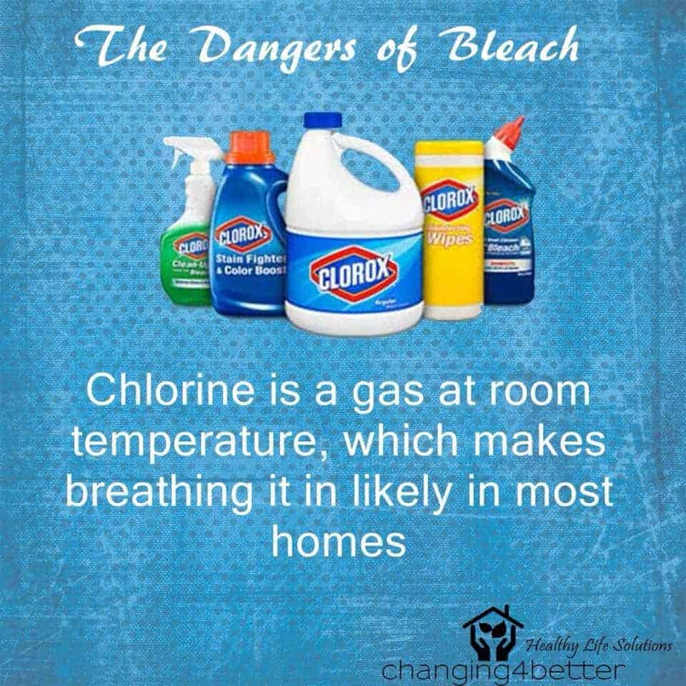 Who hasn't been told that bleach means clean? I know I used to wash my bathroom with bleach an