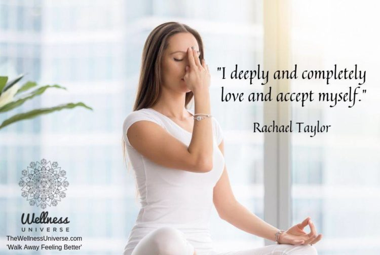 """""""I deeply and completely love and accept myself."""" ~ Rachael Taylor #WUWorldChanger Excerpt f"""