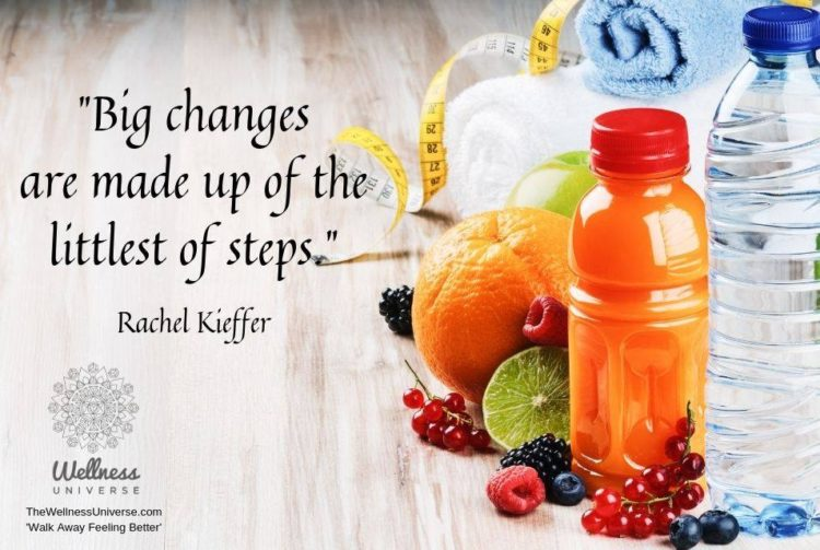 """""""Big changes are made up of the littlest of steps."""" ~ @rachelkieffer Excerpt from &#8217"""