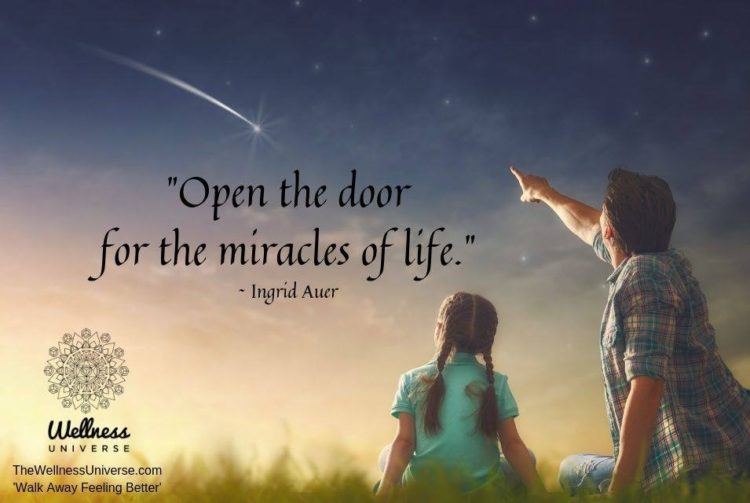 """""""Open the door for the miracles of life."""" In our high-tech world, we have discarded our"""