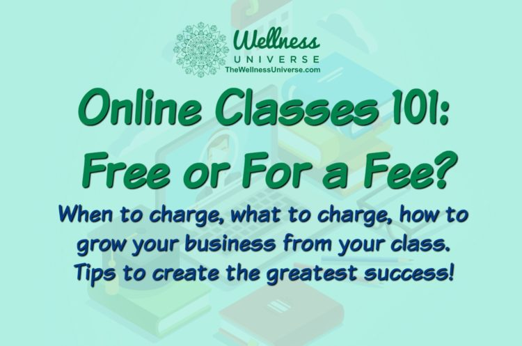 I am live on Wednesday for anyone who is seeking to create online classes —— Let me help