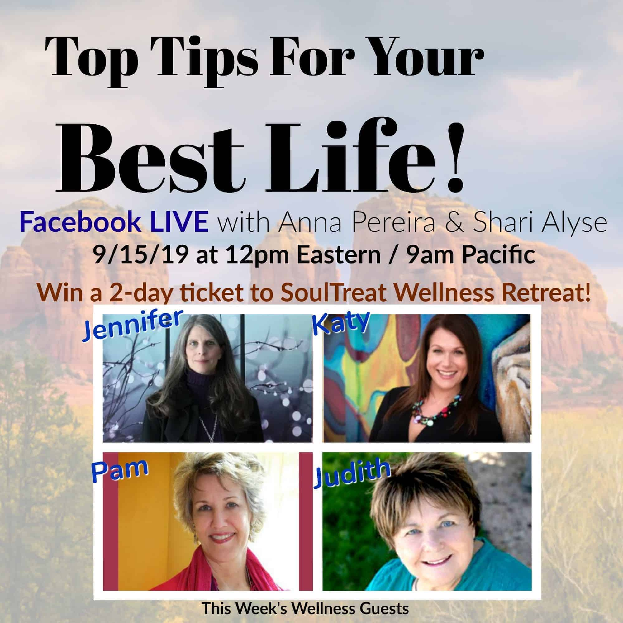 Top Tips for Your Best Life – Episode 4! Come meet Wellness Experts & WU World-Changers, J
