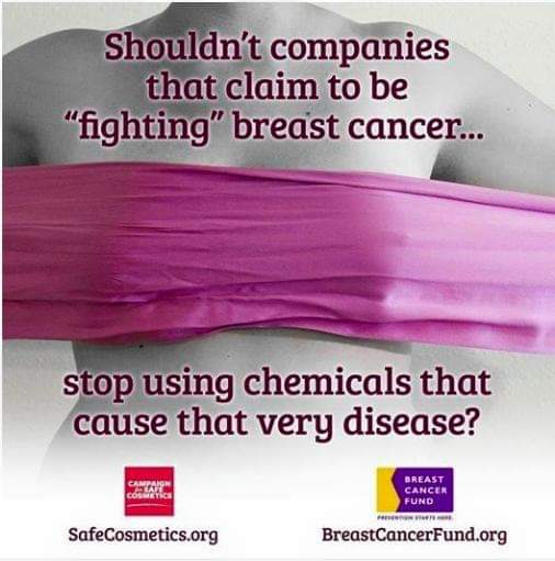 Think before you pink. Educate yourself today. I'm so thankful I've been shopping at the