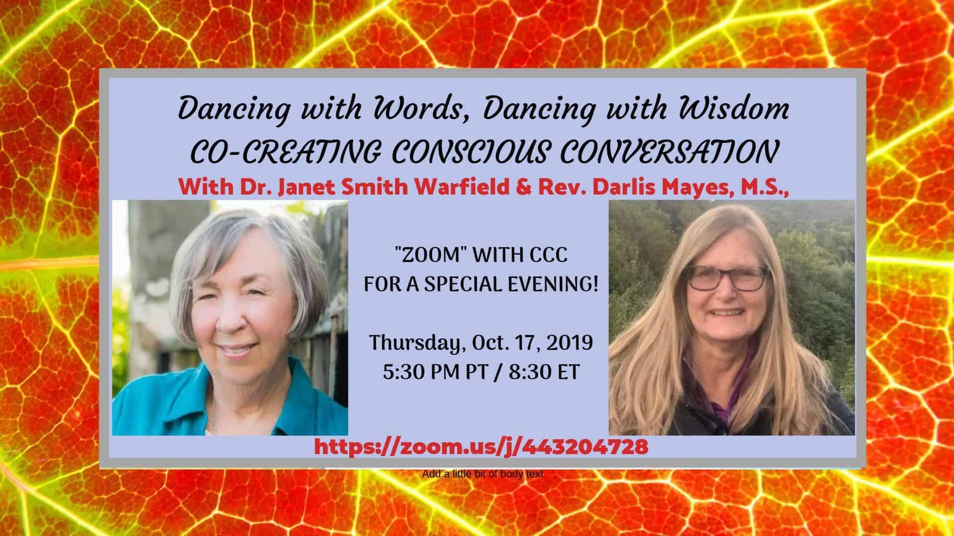 Join us Thursday, 5:30 p.m. PT/8:30 p.m. ET, to EXPERIENCE a conscious, co-creative conversation, LE