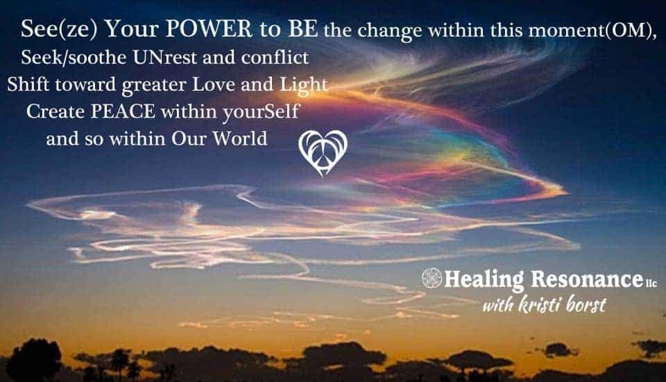 As we trust and embody movement toward greater Light and Love, we make it so. It is our fear and sel
