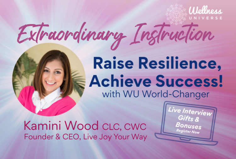 LIVE at 2pm! Extraordinary Instruction with guest Kamini Wood! https://wellnessuniverse.learnitlive.