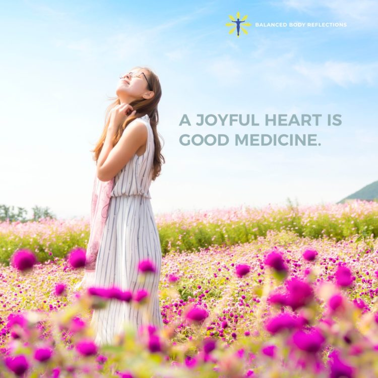 A joyful heart is good medicine. Expressing gratitude, and counting your blessings is where so much